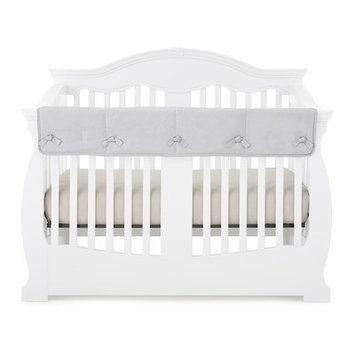 Babee Talk Eco-Teether Crib Rail Guard Cover Color: Gray