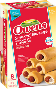 Owens® Smoked Sausage with Cheese & Jalapenos Kolaches 8 ct Box