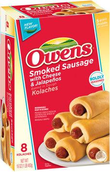 Owens® Smoked Sausage with Cheese & Jalapenos Kolaches 8 ct Box