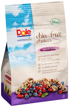 Dole Nutrition Plus Mixed Berry Chia & Fruit Clusters