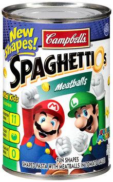 Campbell's SpaghettiOs Meatballs Super Mario Fun Shapes Pasta with Tomato Sauce