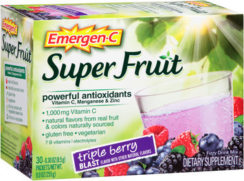 Emergen-C® Super Fruit Triple Berry Blast Drink Mix Dietary Supplement 30-0.30 oz. Packets