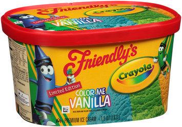 Friendly's® Crayola Color Me Vanilla Ice Cream 1.5 qt. Carton