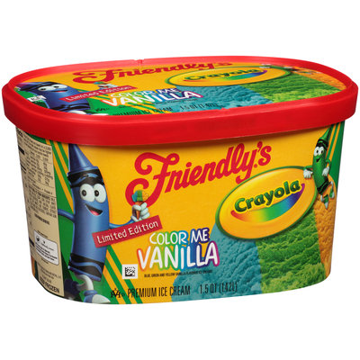 Friendly's® Crayola Color Me Vanilla Ice Cream 1.5 qt. Carton