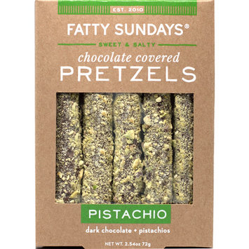 Fatty Sundays Pistachio Dark Chocolate Covered Pretzels