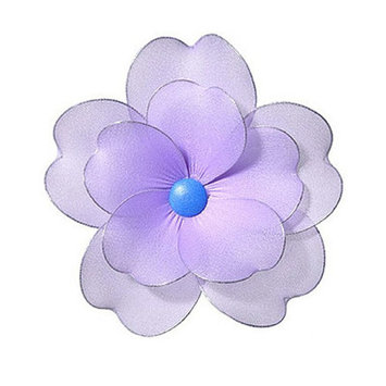 Heart To Heart Multi Layered Flower - Size: Medium, Color: Purple