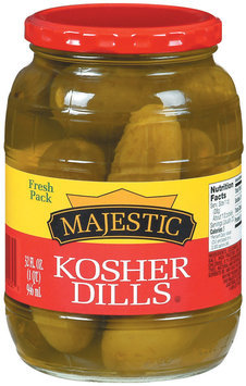 Majestic Kosher Dills Pickles 32 Oz Jar