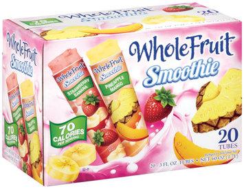 Whole Fruit® Frozen Smoothie 10 Strawberry Banana, 10 Pineapple Mango 3 oz. tubes