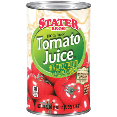Stater Bros.® 100% Tomato Juice 46 fl. oz.