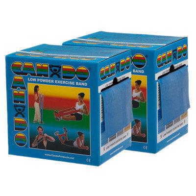 CanDo 10-5494 Low Powder Exercise Band 100 Yard 2 x 50-Yd Rolls Blue Heavy