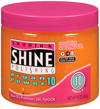 Smooth 'n Shine Polishing Argan Power 10 Nourishing Styling Gel 16 oz. Jar