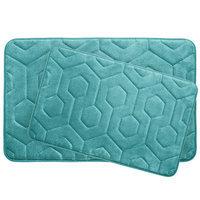 Bath Studio Hexagon 2 Piece Plush Memory Foam Bath Mat Set, Espresso