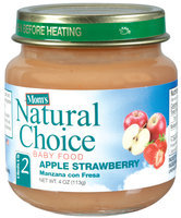 Mom's Natural Choice Baby Food Apple Strawberry 4 oz Jar