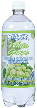 Stater Bros. White Grape Sparkling Water Beverage 33.8 Oz Plastic Bottle