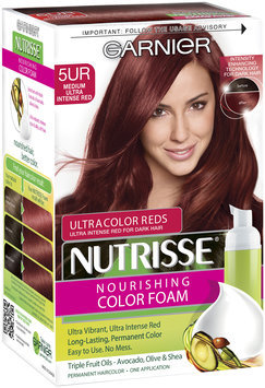 Garnier® Nutrisse® Nourishing Color Foam, 5UR Medium Ultra Intense Red