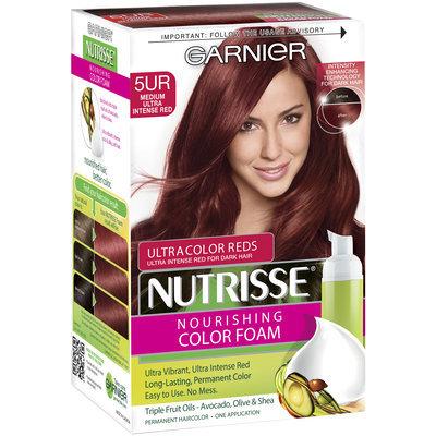 Garnier® Nutrisse® Nourishing Color Foam, 5UR Medium Ultra Intense Red