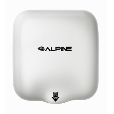 Alpine Industries Hemlock High Speed Commercial 220 Volt Hand Dryer in White