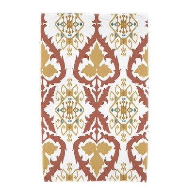 Latitude Run Bombay Geometric Print Beach Towel Color: Coral