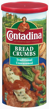 Contadina Traditional Unseasoned Bread Crumbs 10 oz. Canister