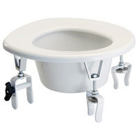 Graham Field Versa Height Raised Toilet Seat With Two Rear Locking