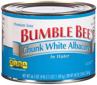 Bumble Bee® Chunk White Albacore Tuna in Water 66.5 oz. Can