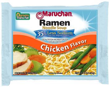 Maruchan® 35% Less Sodium Chicken Flavor Ramen Noodle Soup 3 oz. Bag