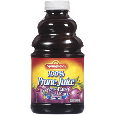 Springfield Prune W/Pulp 100% Juice 32 Oz Plastic Bottle