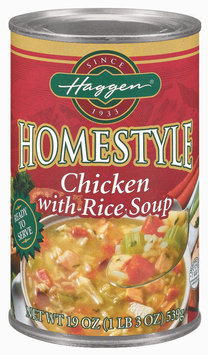 Haggen Homestyle Roasted Chicken W/Egg Noodles Soup 19 Oz Can