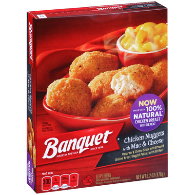 Banquet® Chicken Nuggets with Mac & Cheese 4.85 oz. Box