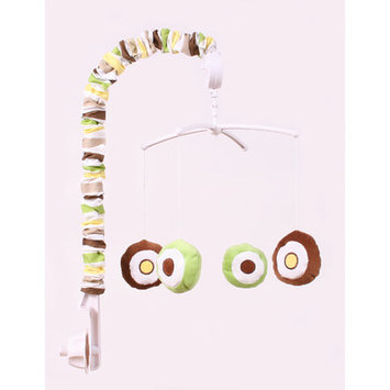 Bacati Mod Dots & Stripes Musical Mobile (Green/Yellow/Brown)