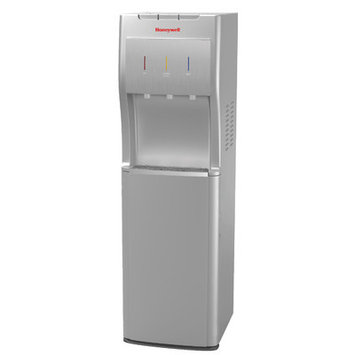 Honeywell Bottom Loading Water Cooler Dispenser with Superior Water Pump Color: Silver