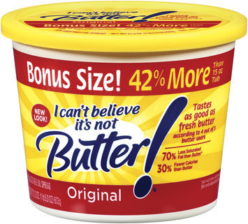 I Can't Believe It's Not Butter! Original Spread 21.3 Oz Plastic Tub