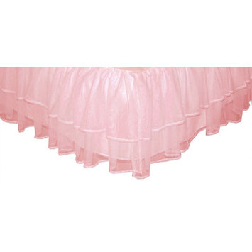 Sleeping Partners Triple Layer Tulle Bed Skirt Pink Size: Full