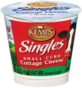 Kemps Singles Small Curd Cottage Cheese 6 Oz Cup