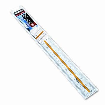 Acme United Corporation Flexible Ruler, Nonmagnetic, Acrylic, 15