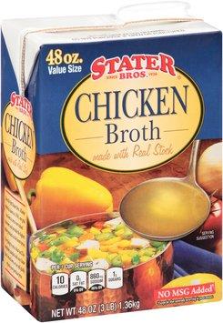 Stater Bros.® Chicken Broth 48 oz. Carton