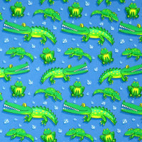 Stwd 3 Piece Frogs and Crocodiles Sheet Crib Bedding Set