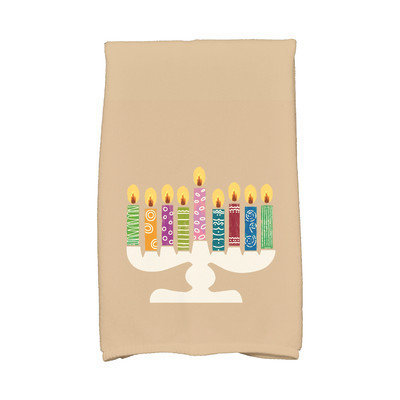 E By Design Hanukkah Festival of Lights Hand Towel Color: Taupe