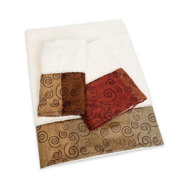 Sweet Home Collection Miramar 3 Piece Towel Set
