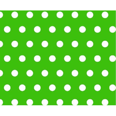 Stwd Polka Dots Crib/Toddler Fitted Sheet Color: Green
