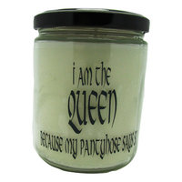 Starhollowcandleco I Am The Queen Because My Pantyhouse Says So Snickerdoodle Jar