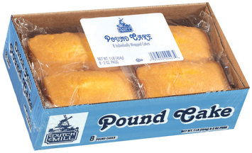 Dutch Mill Pound 2 Oz Cakes 8 Ct Tray
