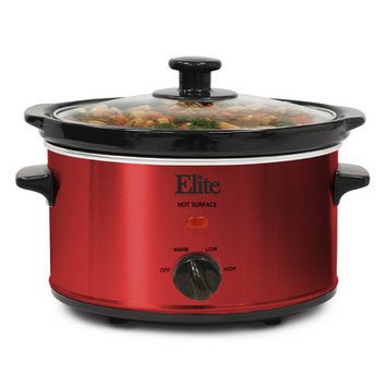 Elite By Maxi-matic 2-Quart Gourmet Slow Cooker Finish: Red