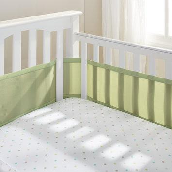 Breathable Baby Mesh Crib Liner Color: Sage Mist
