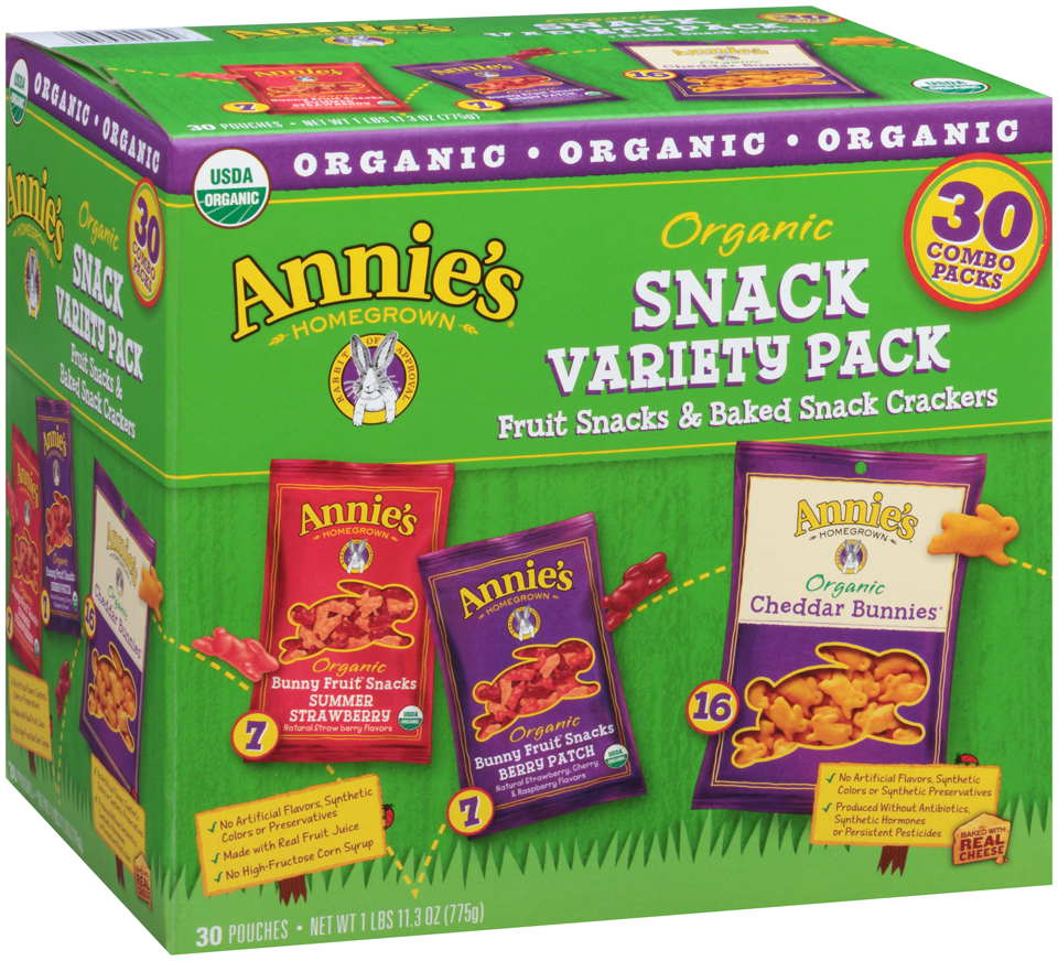 Annie's Homegrown® Organic Snack Variety Pack 30 ct Box