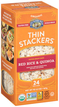 Lundberg® Organic Thin Stackers™ Red Rice & Quinoa Puffed Grain Cakes 24 ct Box