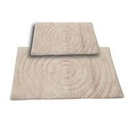 Textile Decor Castle 2 Piece 100% Cotton Echo Spray Latex Bath Rug Set, 30 H X 20 W and 40 H X 24 W, Ivory