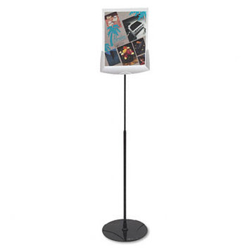 Durable Sherpa Infobase Sign Stand, Acrylic/Metal, 40
