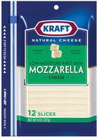 Kraft Mozzarella Cheese Slices 12 Ct