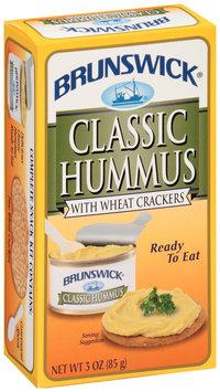 Brunswick® Classic Hummus with Wheat Crackers 3 oz. Box